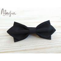 Черная бабочка галстук однотонная