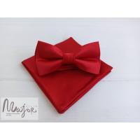 Красная бабочка галстук атласная