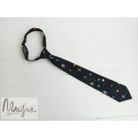 Детский галстук космос черный