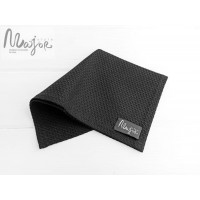 Шерстяной черный нагрудный платок